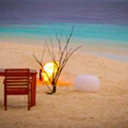 Romantic Beach Poster