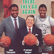 Ronald Reagan With Georgetown University Coach John Sports Illustrated Cover Poster