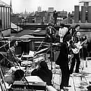 Rooftop Beatles Poster
