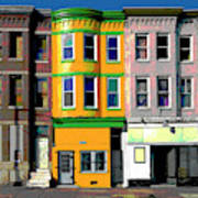 Row Houses Baltimore Poster