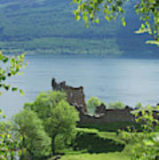 ruins of castle Urquhart on loch Ness Poster