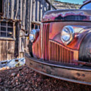 Rusty Old Truck In A Ghost Town In Arizona Poster