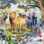Safari Wildlife Poster