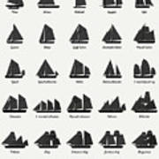 Sailing Vessel Types And Rigs Poster
