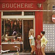 Saint-tropez Boucherie Poster