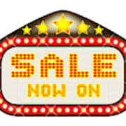 Sale Theatre Marquee Poster