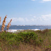 Salty Island Breeze Over Breach Inlet Poster