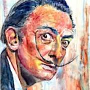 Salvador Dali Portrait Poster