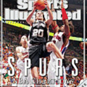 San Antonio Spurs Manu Ginobili, 2005 Nba Finals Sports Illustrated Cover Poster