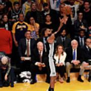 San Antonio Spurs V Los Angeles Lakers Poster