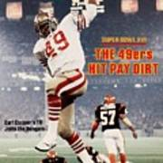San Francisco 49ers Earl Cooper, Super Bowl Xvi Sports Illustrated Cover Poster