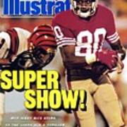 San Francisco 49ers Jerry Rice, Super Bowl Xxiii Sports Illustrated Cover Poster