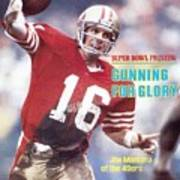 San Francisco 49ers Qb Joe Montana... Sports Illustrated Cover Poster