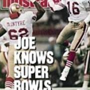 San Francisco 49ers Qb Joe Montana, Super Bowl Xxiv Sports Illustrated Cover Poster
