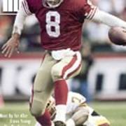 San Francisco 49ers Qb Steve Young, 1993 Nfc Divisional Sports Illustrated Cover Poster