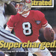 San Francisco 49ers Qb Steve Young, 1995 Nfc Championship Sports Illustrated Cover Poster
