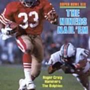 San Francisco 49ers Roger Craig, Super Bowl Xix Sports Illustrated Cover Poster