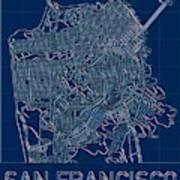 San Francisco Blueprint City Map Poster