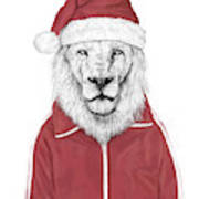 Santa Lion  Poster