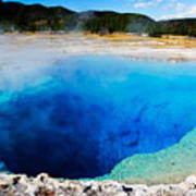 Sapphire Pool,yellowstone National Poster