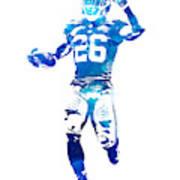 Saquon Barkley New York Giants Water Color Pixel Art 10 Poster