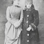 Sarah Bernhardt With Lillie Langtry Poster