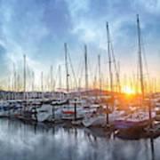 Sausalito California Morning Airs Poster