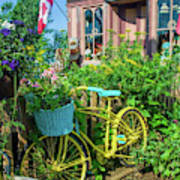 Scenic Garden And Antiques Store Poster