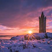 Scrabo Winter Sunrise Poster