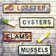 Seafood Signs Poster