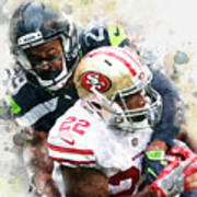 Seattle Seahawks Against San Francisco 49ers Poster
