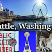 Seattle Washington Waterfront 02 Poster