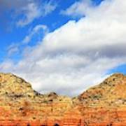 Sedona Jack's Trail Blue Sky, Clouds Red Rock Hills 5032 3 Poster