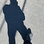 Self Portrait 19 - Balancing With My Shadow Poster