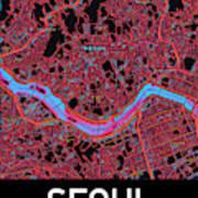 Seoul City Map Poster