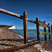 Seven Sisters Through Sea Defences Poster