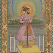 Shah Jahan On A Terrace Poster