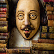 Shakespeare With Old Books Poster