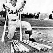 Shortstop Bud Harrelson With His Heavy Poster