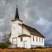 Shuttered Church In Cartwright North Dakota Poster
