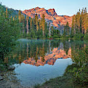 Sierra Buttes From Sand Pond, Tahoe National Forest, California Poster