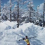 Skier In Vermont Poster