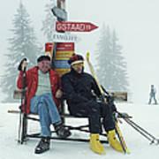Skiing Holiday Poster