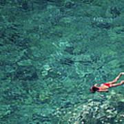 Snorkeling In The Mediterranean Sea Poster