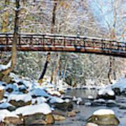 Snowy Bridge Poster