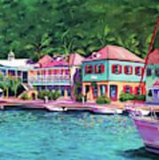 Soper's Hole Tortola  16x23 Poster