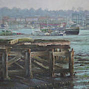 Southampton Northam Summer Evening Across The Itchen Poster