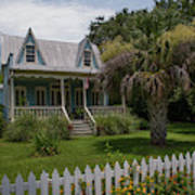 Southern Coastal Tin Roof Cottage Poster