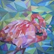 Sparkling Flamingo Poster
