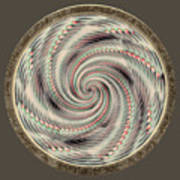 Spinning A Design For Decor And Clothing Poster